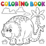 Coloring book dinosaur theme 6 Royalty Free Stock Photos