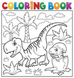 Coloring book dinosaur theme 9 Royalty Free Stock Image