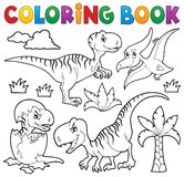 Coloring book dinosaur theme 8 Royalty Free Stock Images