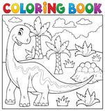 Coloring book dinosaur topic 6 Stock Photography