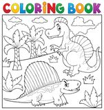 Coloring book dinosaur topic 7 Stock Photography