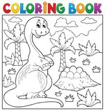 Coloring book dinosaur topic 8 Royalty Free Stock Images