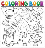 Coloring book dinosaur topic 9 Stock Image