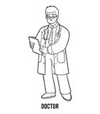 Coloring book, Doctor Stock Images