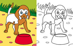 Coloring book dog Royalty Free Stock Images