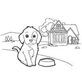 Coloring book with dog Royalty Free Stock Photos