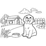 Coloring book with dog Royalty Free Stock Photography