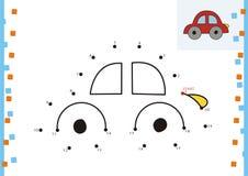 Coloring book dot to dot. The car. Coloring book dot to dot Stock Photos