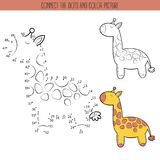 Coloring book and dot to dot educational game for kids. Connect the dots puzzle. Worksheet for class or at home with the Stock Image