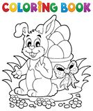 Coloring book Easter bunny 1 Stock Image