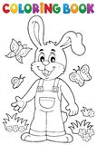 Coloring book Easter rabbit theme 6 Royalty Free Stock Image