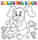 Coloring book Easter rabbit theme 3 Royalty Free Stock Photo