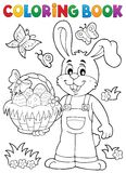 Coloring book Easter rabbit theme 7 Stock Photography