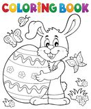 Coloring book Easter rabbit theme 8. Eps10 vector illustration Stock Photos