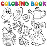 Coloring book with Easter theme 6 stock illustration