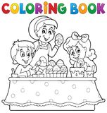 Coloring book Easter topic image 1 Royalty Free Stock Images