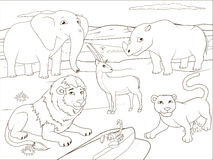 Coloring book educational game for children Stock Images