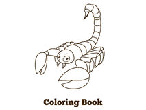 Coloring book elephant african animal cartoon Stock Photo