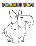 Coloring book elephant cartoon Royalty Free Stock Images