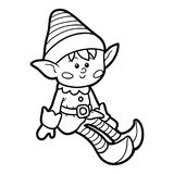 Coloring book, Elf. Coloring book for children, Elf royalty free illustration