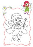 Coloring book - fairy 1 royalty free stock images
