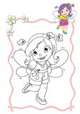 Coloring book - fairy 10 Stock Photo