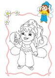 Coloring book - fairy 3 royalty free illustration