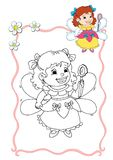 Coloring book - fairy 5 Stock Photo