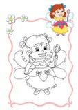 Coloring book - fairy 5 Stock Photo