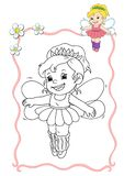 Coloring book - fairy 6 Royalty Free Stock Photos