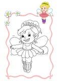 Coloring book - fairy 6 royalty free stock photos