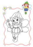 Coloring book - fairy 7 Royalty Free Stock Image