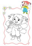 Coloring book - fairy 8 royalty free stock image