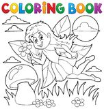 Coloring book with fairy 1 Royalty Free Stock Photography