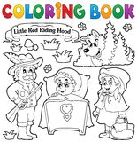 Coloring book fairy tale theme 1 Royalty Free Stock Photos