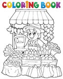 Coloring Book Farmer Theme 2 Royalty Free Stock Photography