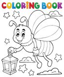 Coloring book firefly with lantern. Eps10 vector illustration Royalty Free Stock Images