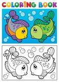 Coloring book with fish theme 2