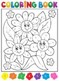 Coloring book with flower theme 9 Royalty Free Stock Image