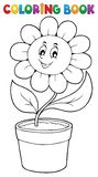 Coloring book flower topic 5 Stock Photos