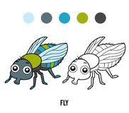 Coloring book, Fly. Coloring book for children, Fly stock illustration