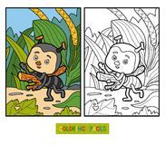 Free Coloring Book For Children. Little Ant On The Meadow Stock Image - 73169351