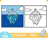 Free Coloring Book For Kids, Iceberg Background Royalty Free Stock Photos - 217564578