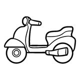 Coloring Book For Kids, Scooter Royalty Free Stock Image