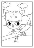 Coloring book, Fox Stock Images