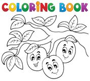 Coloring book fruit theme 3 Stock Photo