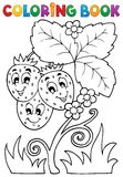 Coloring book fruit theme 4 Royalty Free Stock Photo