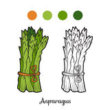 Coloring book: fruits and vegetables (asparagus) Royalty Free Stock Image