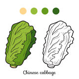 Coloring book: fruits and vegetables (chinese cabbage) Stock Photography