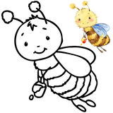 Coloring book funny Cartoon insect. Stock Images